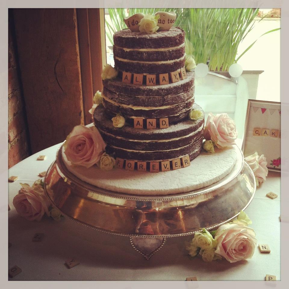 Naked Chocolate Wedding Cake Little Bear Cakery - Fudge Wedding Cake
