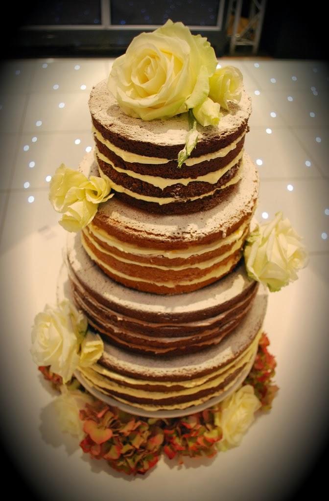 A Four Tier Naked Wedding Cake Little Bear Cakery