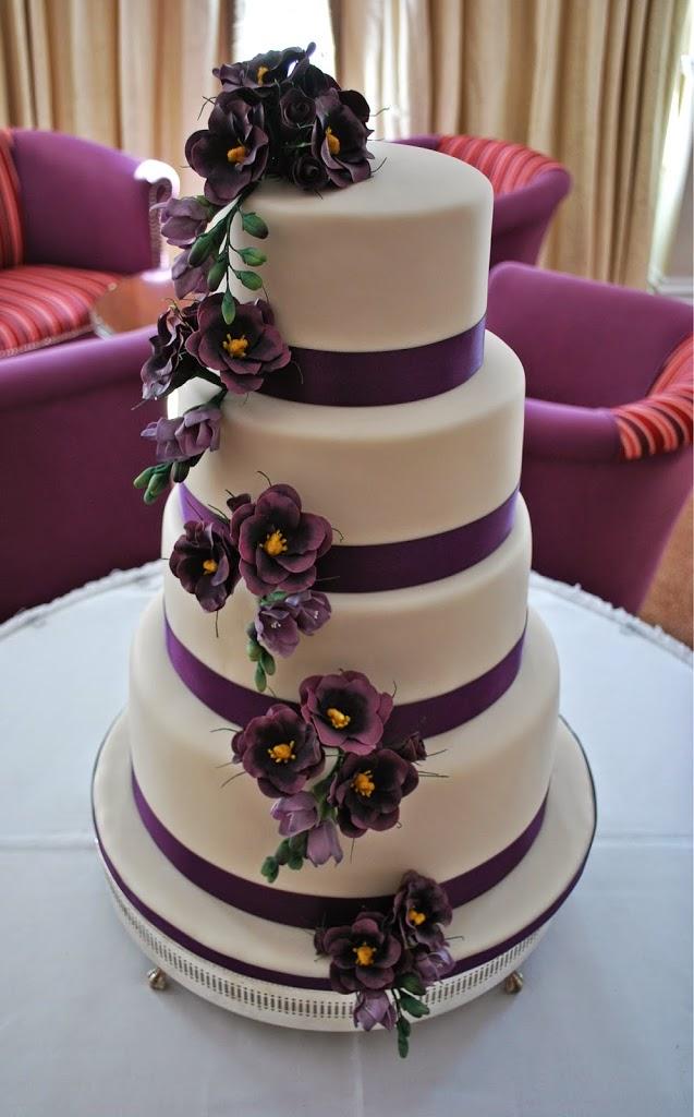 Wedding Cake Toppers Purple