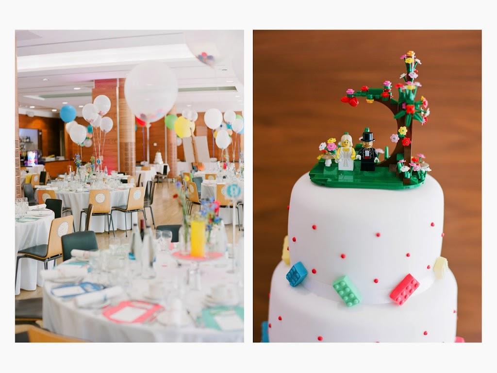 Lego Polka Dot Wedding Cake