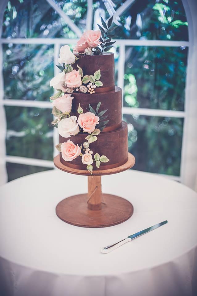 Naked Chocolate Wedding Cake Little Bear Cakery