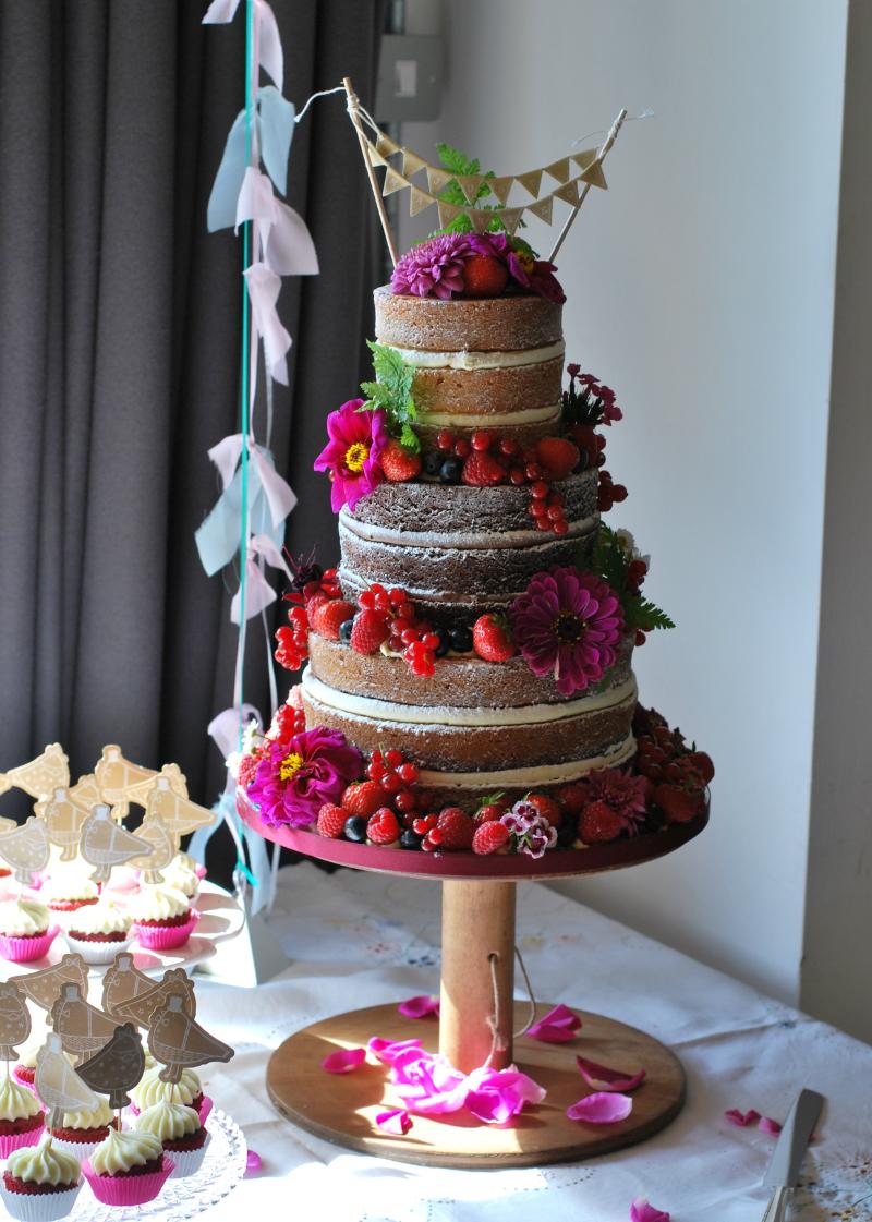 Rustic wedding cake archives little bear cakery the naked wedding cake junglespirit Images