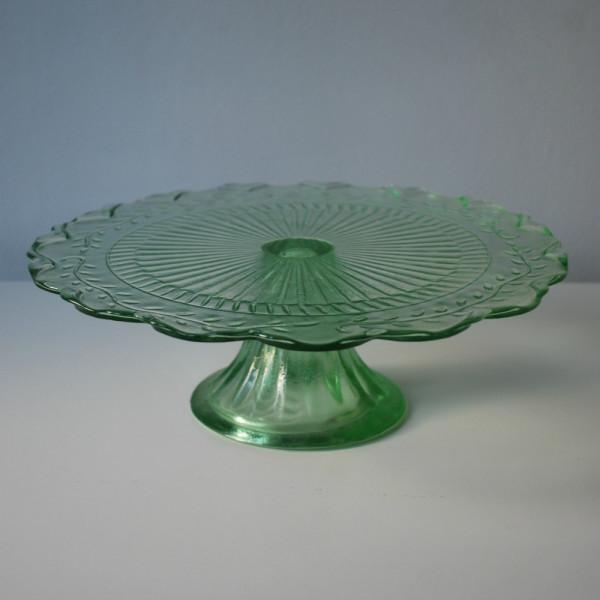 Green Glass Cake Stand Little Bear Cakery