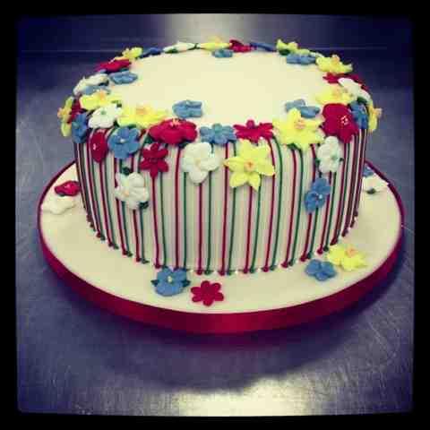 Welsh Themed Birthday Cake - Little Bear Cakery